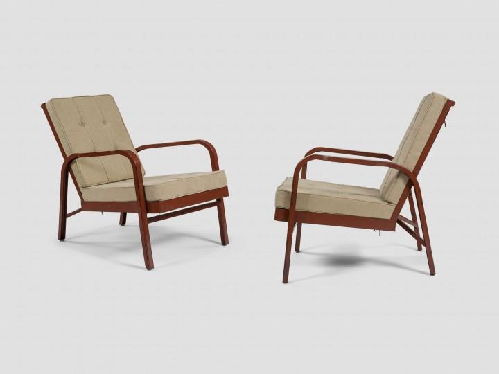 Jean Prouvé, fauteuils pour le sanatorium Martel de Janville vers 1934.